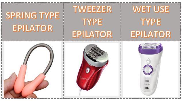 types of epilators