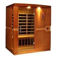 DYNAMIC SAUNAS AMZ-DYN-6310-01 Madrid 3-Person Far Infrared Sauna