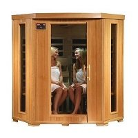 HeatWave SA2420DX Tuscon Monticello 4-Person Infrared Sauna with 10 Carbon Heaters