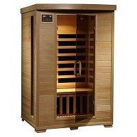Radiant Saunas 2-Person Hemlock Deluxe Infrared Sauna with 6 Carbon Heaters