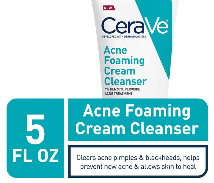 Best Face Wash for Blackheads for Gentle Skin - Anti-Acne Foam Cleanser from CeraVe