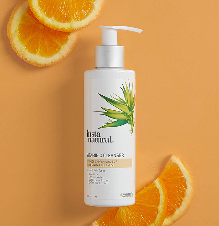 Best  Face Wash for Blackheads with Green Tea - Vitamin C Face Wash from InstaNatural