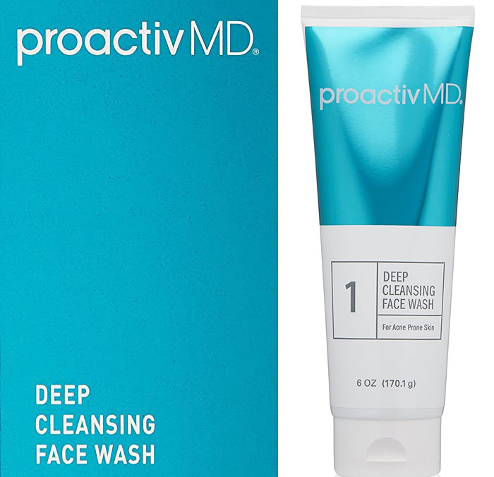 Proactive acne face wash